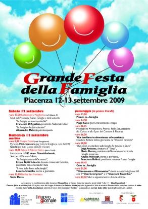 Il manifesto della prima edizione della Festa della Famiglia
