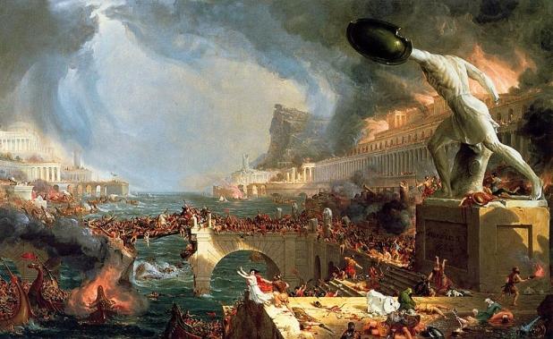 Cole Thomas - The course of empire destruction - 1836