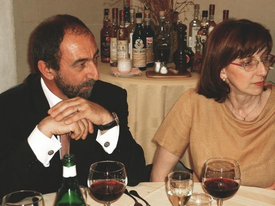 l'Avv. Giovanni Avesani con la moglie