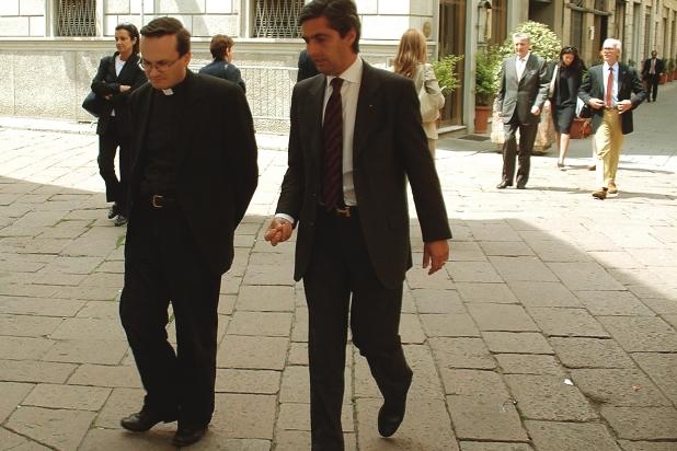 Padre Nicola Albanesi, consulente ecclesiastico UGCI, con l'Avv. Paolo Cattadori