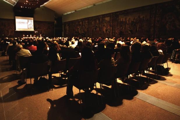 Il pubblico della Sala degli Arazzi